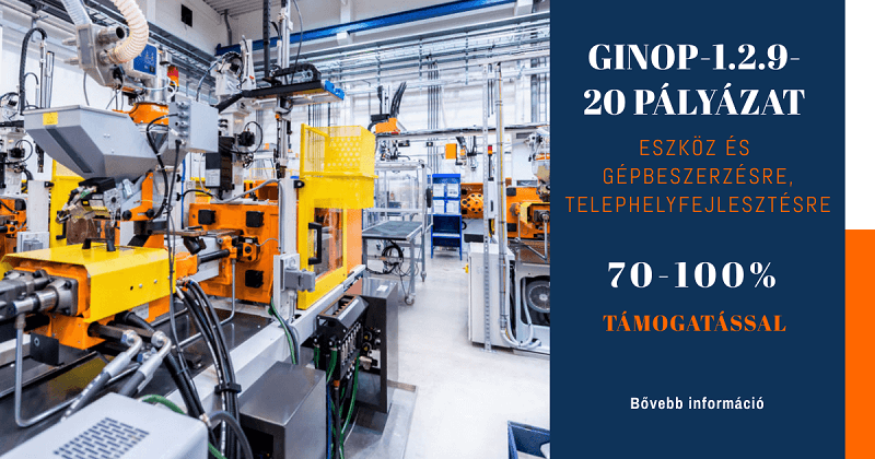 Hátrányos helyzetű településeken működő mikro- és kisvállalkozások fejlesztéseinek támogatása – GINOP-1.2.9-20 pályázat